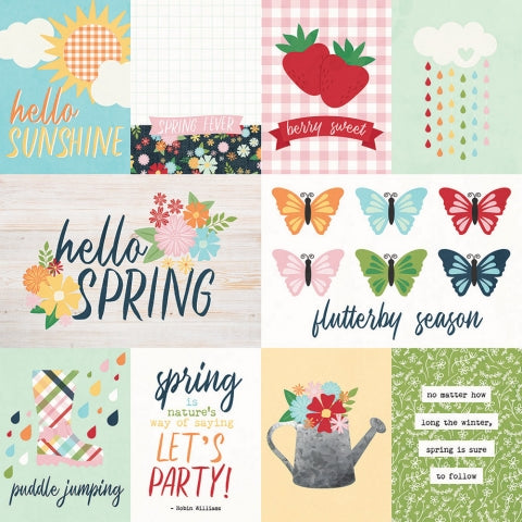 Simple Stories SPRINGTIME 3x4 & 4x6 ELEMENTS 12x12 Scrapbook Paper Scrapbooksrus