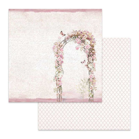 "Stamperia Wedding FLOWERED ARCH  SBB623 12""X12"" Scrapbook Paper"