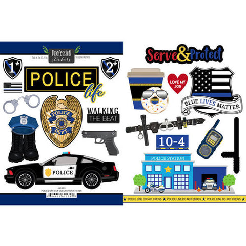 Profession Stickers POLICE OFFICER OCCUPATION STICKER 20pc Scrapbook Customs Scrapbooksrus