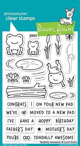Lawn Fawn Toadally Awesome Stamps @scrapbooksrus