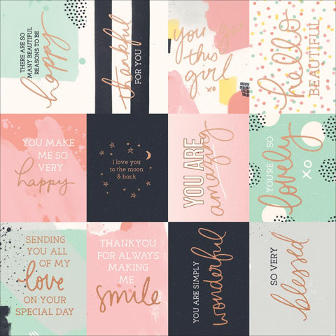 "KaiserCraft Daydreamer HAPPY MOMENTS 12""X12"" Scrapbook Paper"