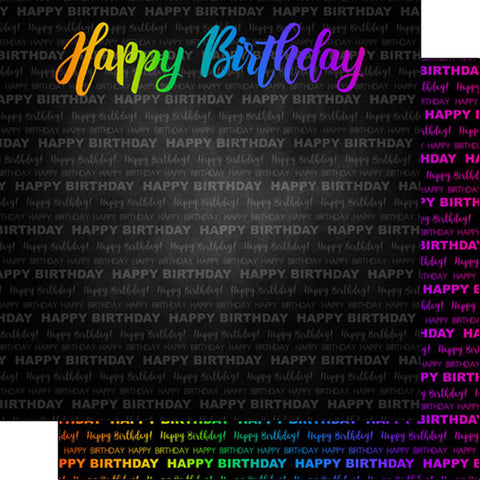 "NEON HAPPY BIRTHDAY DS 12""X12"" Paper Scrapbooksrus"