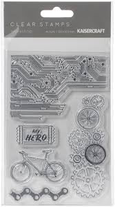 "Kaisercraft WORKSHOP Clear Acrylic Stamps 4""X6"" 5pc Scrapbooksrus"