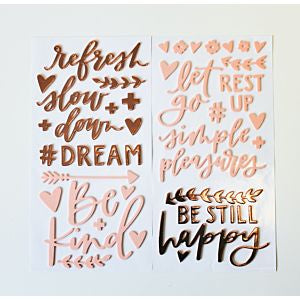 American Crafts Thickers REFRESH Foil Foam Phrase Stickers Scrapbooksrus
