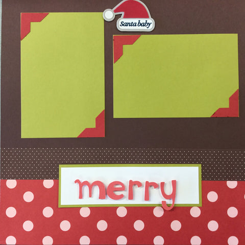"$5.00 Premade Pages SANTA BABY  (2) 12""X12"" Scrapbook Pages Scrapbooksrus"