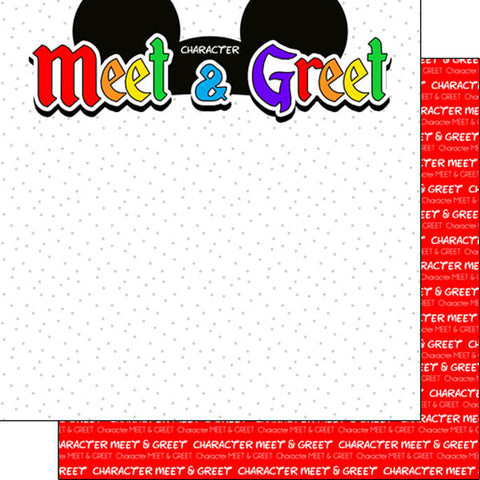 "Disney CHARACTER MEET & GREET- EARS DS 12""X12"" Paper Scrapbooksrus"