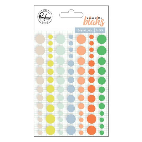 Pinkfresh Studio A Case of The Blahs ENAMEL DOTS 84 pc Scrapbooksrus