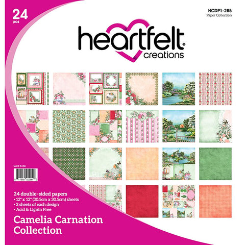 "Heartfelt Creations CAMELIA CARNATION COLLECTION 12""X12"" Paper Pad"