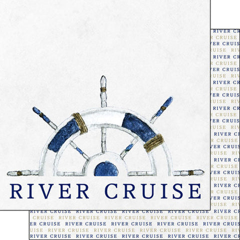 "RIVER CRUISE WATERCOLOR DS 12""X12"" Paper Scrapbooksrus"
