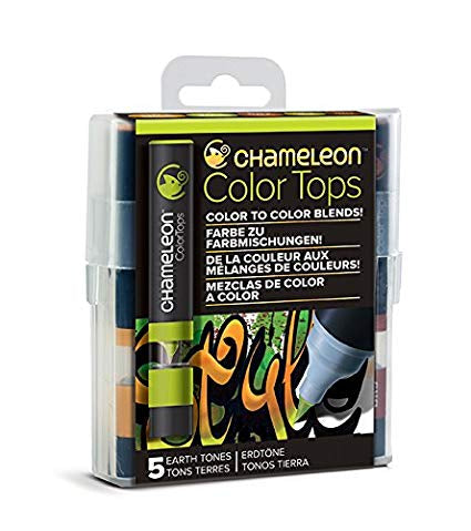 Chameleon Color Tops EARTH TONES Alcohol Markers Pens 5pc Scrapbooksrus