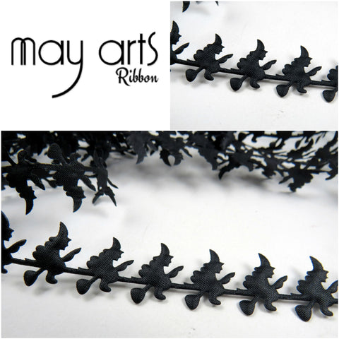 "May Arts 1"" WITCH RIBBON 1 yard yd Scrapbooksrus"