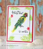 Hero Arts Color Layering PARROT Cling Stamps 16pc