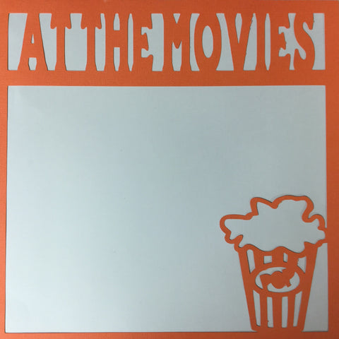 "Page Frame AT THE MOVIES 12""x12"" Scrapbook Overlay LV Scrapbooksrus"