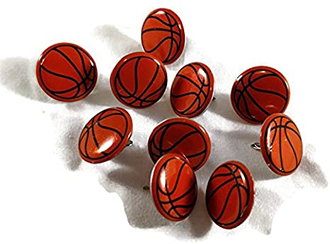 Creative Impressions Paper Fasteners BASKETBALL BRADS 25pc Scrapbooksrus