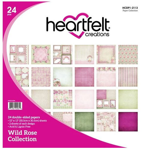 "Heartfelt Creations WILD ROSE COLLECTION 12""X12"" Paper Pad Scrapbooksrus"