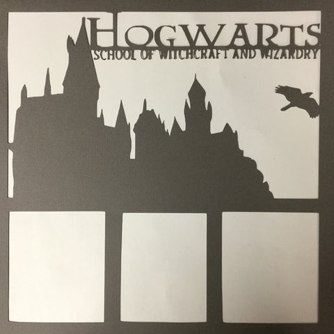 "Page Frame HOGWARTS 12""x12"" Scrapbook Overlay Scrapbooksrus"