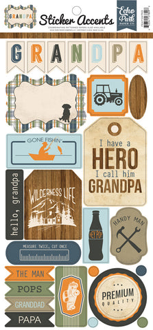 Echo Park Sticker Accents Grandpa
