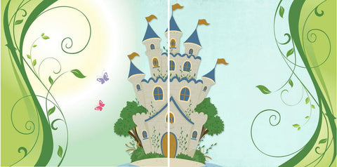 "Disney FAIRYTALE CASTLE 12""X12"" Scrapbook 2 Paper Sheet - Scrapbooksrus"
