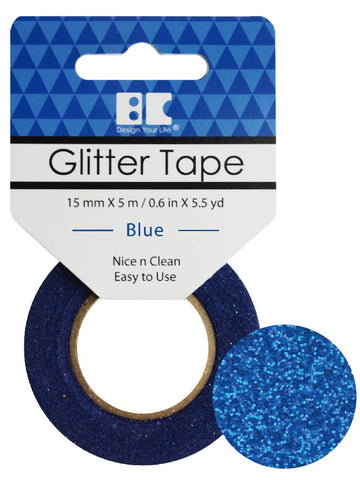 Best Creation GLITTER TAPE BLUE Permanent Washi Tape - Scrapbook Kyandyland