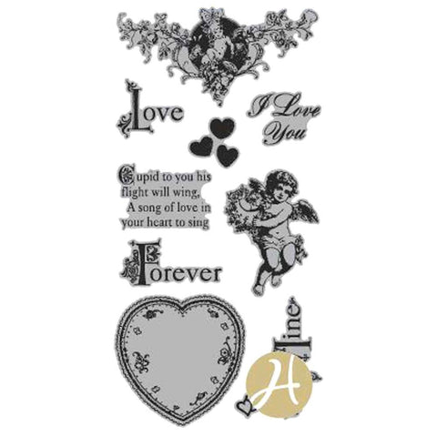 Graphic 45 Hampton Art SWEET STENTIMENTS Cling Mount Rubber Stamps - Scrapbook Kyandyland