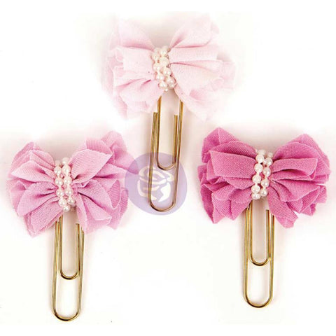 My Prima Planner BOW PAPER CLIPS 3pc