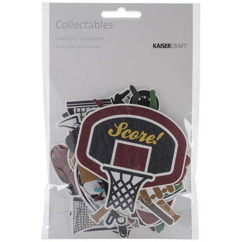 Kaisercraft GAME ON! Collectables Cardstock Die-Cuts 50pc