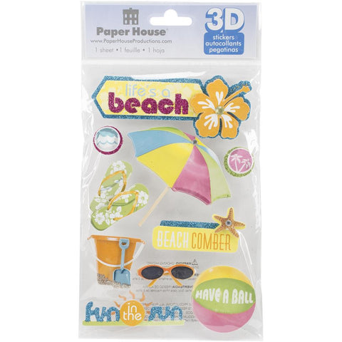 Paper House BEACH 3DStickers 11pc