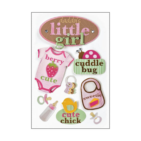 Paper House LITTLE GIRL 3DStickers 11pc