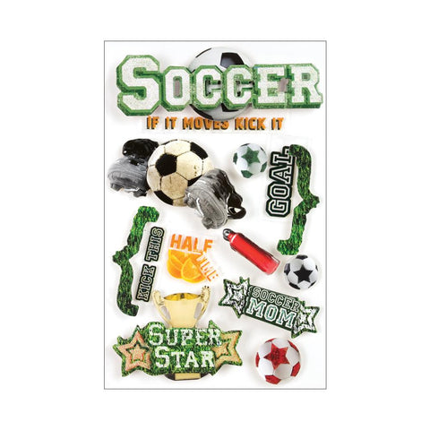 Paper House SOCCER 3D Stickers