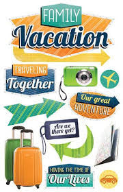 Paper House FAMILY VACATION 3D Stickers 11pc