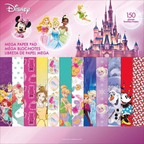 "Sandylion Disney Mega Paper Pad 12""x12"" Scrapbook 150 Sheet"