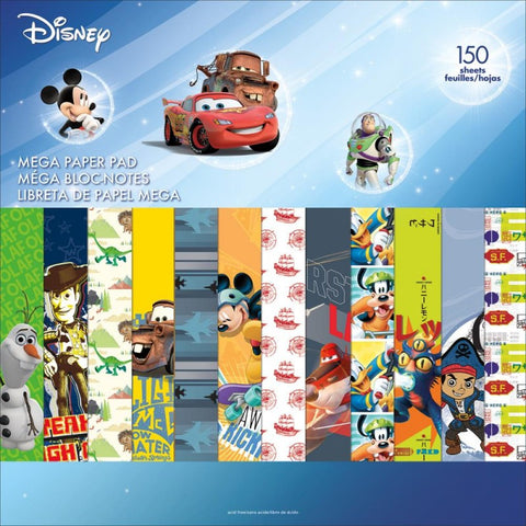 "Sandylion Disney Paper Pad 12""x12"" Scrapbook 150 Sheet"