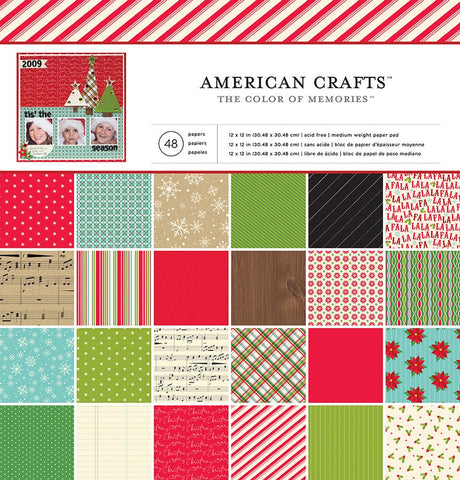 "American Crafts THE COLOR OF MEMORIES 12""X12"" Paper Pad 48pc"