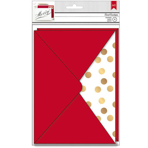 "American Crafts DEAR SANTA Paper ENVELOPES 5""X 7"""