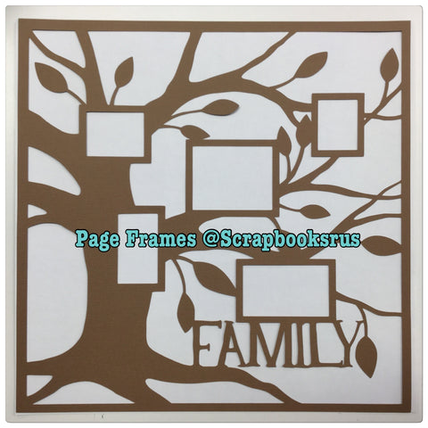 Page Frame FAMILY TREE Scrapbook #Overlay