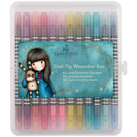 Santoro Gorjuss Girls BRIGHTS Dual Tip Watercolor Pens 12pk