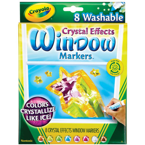 Crayola CRYSTAL EFFECTS Window Markers 8pc