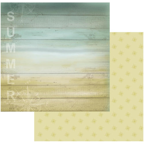 "Couture Creations Sea Breeze Collection WEATHERBOARD 12""X 12"" Scrapbook Paper"