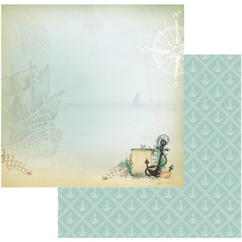 "Couture Creations Sea Breeze Collection BOTTOM OF THE SEA 12""X 12"" Scrapbook Paper"