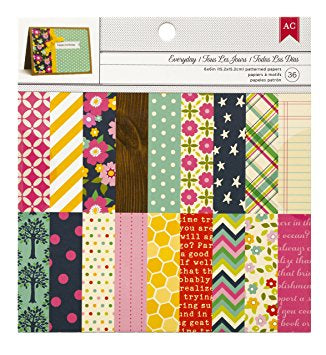 "American Crafts EVERYDAY 6""X6"" Paper Pad 36pc"