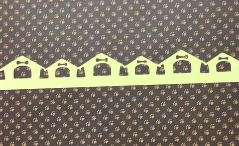 "Pet DOG HOUSE Diecut Border Yellow 2.5""X12"""