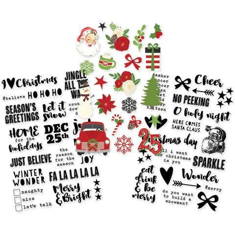 Simple Stories Very Merry VERY MERRY Clear Stickers 3 4x6 Sheets