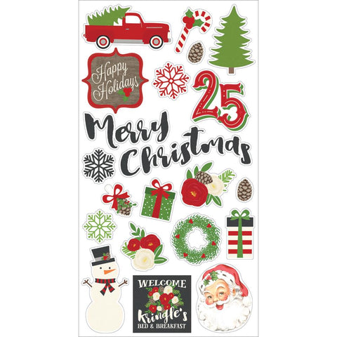 Simple Stories Very Merry VERY MERRY Chipboard Stickers 21pc