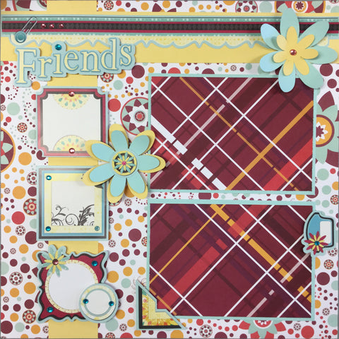 "Premade Pages FRIENDS (2) 12""x12"" Scrapbook @Scrapbooksrus"