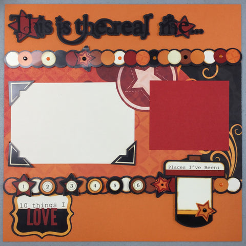 "Premade Pages ALL ABOUT ME (2) 12""x12"" Scrapbook @Scrapbooksrus"