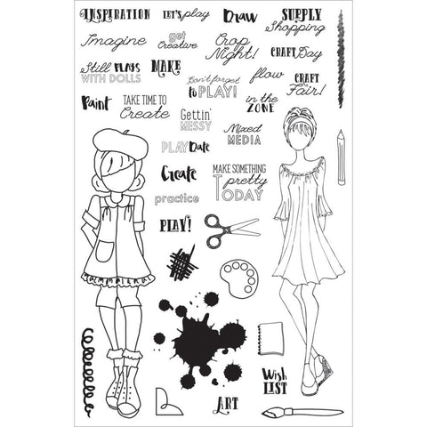 "Prima Planner CRAFT DAY Clear Cling Stamps 4""X6"""