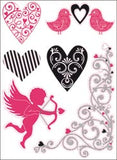 Kaisercraft Printed Chipboard LOVE NOTES Valentine Collection