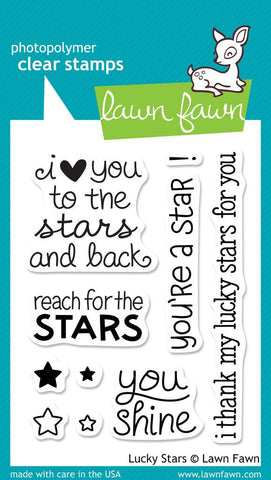 "Lawn Fawn LUCKY STARS LF514 Clear Stamps 4""X3"""