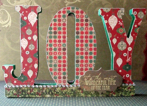 Kaisercraft Beyond The Page 3D JOY Standing Word Wood - Scrapbook Kyandyland