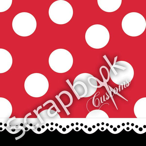 "Disney Magical Character 2 MINNIE MOUSE 12""X12"" Scrapbook Paper - Scrapbooksrus"